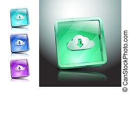 jelkép, ábra, vektor, letölt, felhő, ikon
