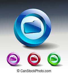 jelkép, ábra, vektor, reszelő, folder., ikon