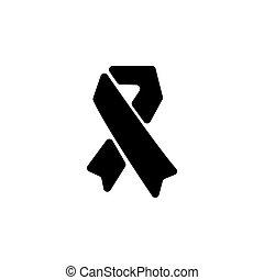 jelkép, ábra, vektor, (sign), aids, icon.