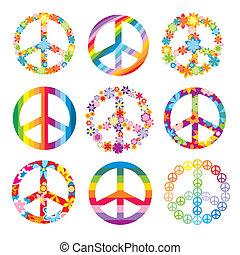 jelkép, állhatatos, béke