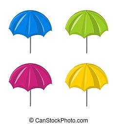 jelkép, állhatatos, ikon, vektor, esernyő, design.
