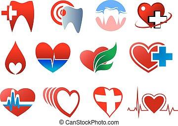jelkép, ajándék, fogászat, vér, kardiológia