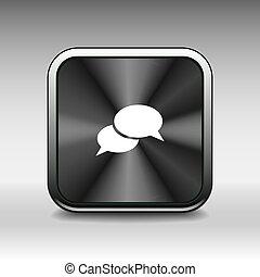 jelkép, aláír, vektor, beszéd, csevegés, panama, ikon