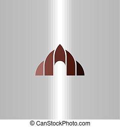 jelkép, barlang, vektor, tervezés, jel, ikon