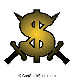 jelkép, dollár
