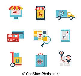 jelkép, e-commerce, alapismeretek, bevásárlás, internet