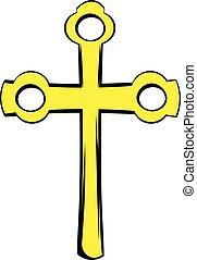 jelkép, feszület, ikon, vallásos, karikatúra, ikon