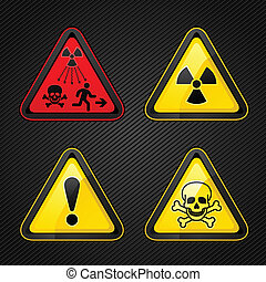 jelkép, figyelmeztetés, állhatatos, kockázat, figyelem