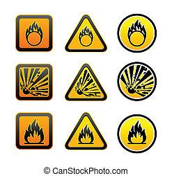 jelkép, figyelmeztetés, állhatatos, kockázat