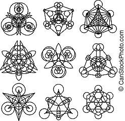 jelkép, geometriai, vektor