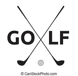 jelkép, golf