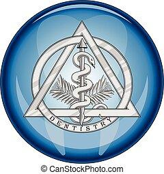 jelkép, gombol, orvosi, fogászat