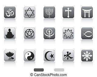 jelkép, gombol, vallásos