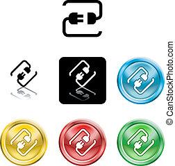 jelkép, gyertya icon, connecting vezeték