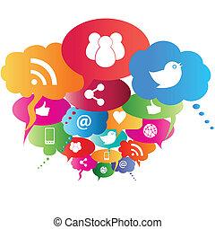 jelkép, hálózat, társadalmi