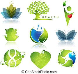 jelkép, health-care, ökológia