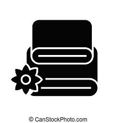 jelkép, ikon, vektor, ábra, fekete, törülköző, lakás, glyph, fogalom, cégtábla.