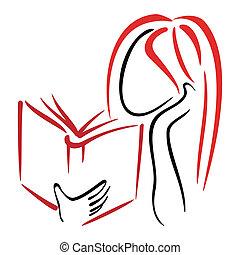 jelkép, könyvtár
