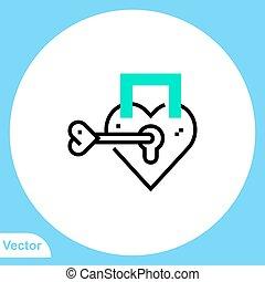 jelkép, lakat, ikon, vektor, lakás, aláír