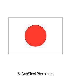 jelkép, lobogó, vektor, japán, ikon, design.
