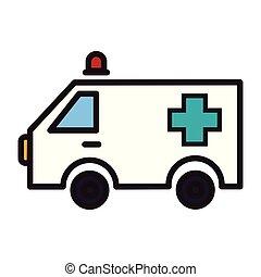 jelkép, mentőautó, szükségállapot jármű