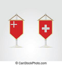 jelkép, nemzeti, switzerland., ábra
