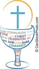 jelkép, oltáriszentség, jámbor, lelki közösség