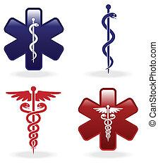 jelkép, orvosi, állhatatos