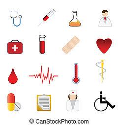 jelkép, orvosi health, törődik