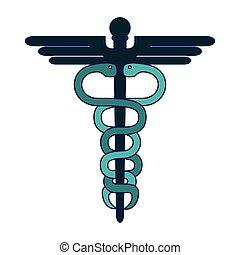jelkép, orvosi, pusztulásnak indult