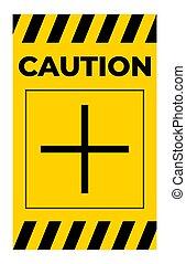 jelkép, polaritás, aláír, pozitív, plusz, figyelmeztet