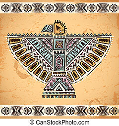 jelkép, sas, törzsi, amerikai, bennszülött