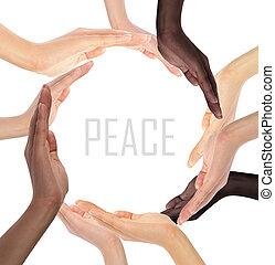 jelkép, sok nemzetiségű, emberi kezezés, fogalmi, gyártás, karika