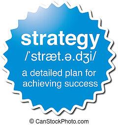 jelkép, stratégia