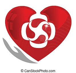 jelkép, szív, kardiológia, egészséges