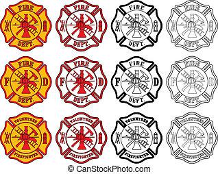 jelkép, tűzoltó, kereszt