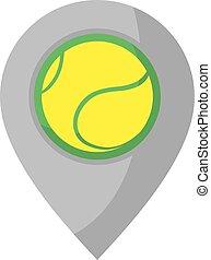 jelkép, tenisz, elhelyezés