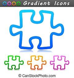 jelkép, tervezés, ikon, rejtvény, vektor