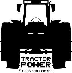 jelkép, traktor, erő