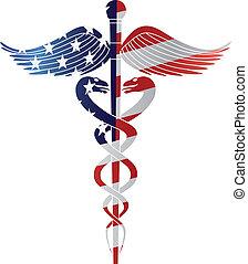 jelkép, usflag, áttekintés, orvosi, v, pusztulásnak indult