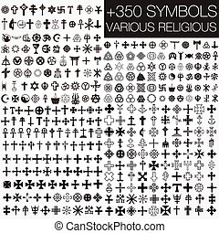 jelkép, vallásos, különféle, 350
