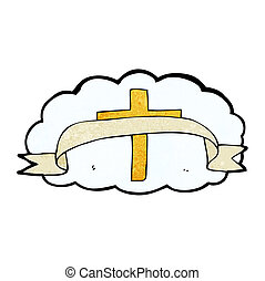 jelkép, vallásos, karikatúra, kereszt