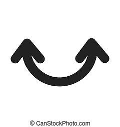 jelkép, vektor, ív, nyílvesszö icon