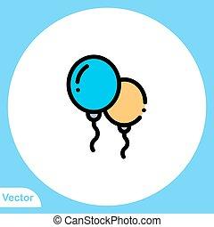 jelkép, vektor, balloon, ikon, aláír
