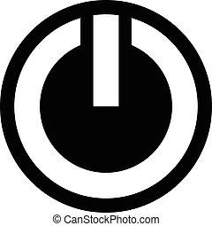 jelkép, vektor, erő, ikon