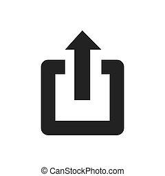 jelkép, vektor, erő, nyílvesszö icon