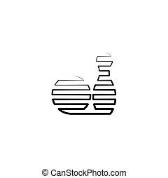 jelkép, vektor, fekete, tekézés, egyenes, ikon