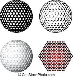 jelkép, vektor, golf labda