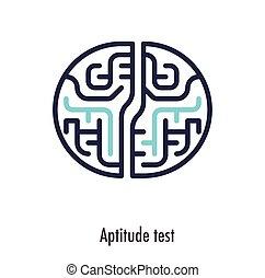 jelkép, vektor, híg, adottság, teszt, egyenes, icon.