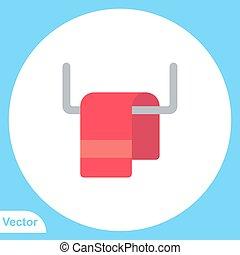 jelkép, vektor, ikon, aláír, törülköző, lakás